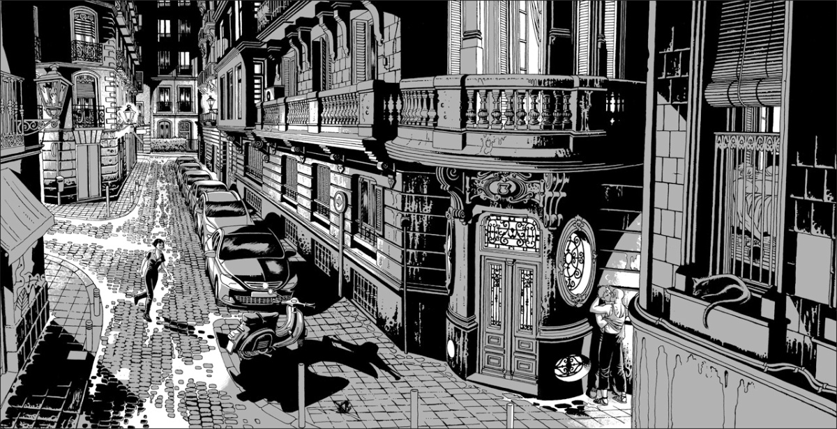 "alt=""ilustracion miguel navia chueca calle belen"""