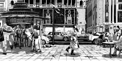 "alt=""ilustracion miguel navia gran via madrid palacio de la musica"""