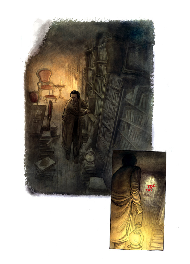 "alt=""ilustracion miguel navia literatura clasicos de misterio"""