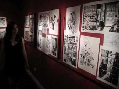 Exposición de los dibujos originales del libro Chueca en la librería Panta Rhei